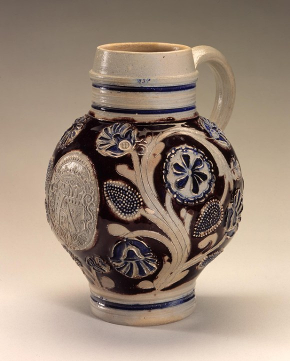 Westerwald, Germany. Krug, 1672. Salt-glazed stoneware.  Milwaukee Art Museum, Layton Art Collection, L2000.3. Photo credit Larry Sanders