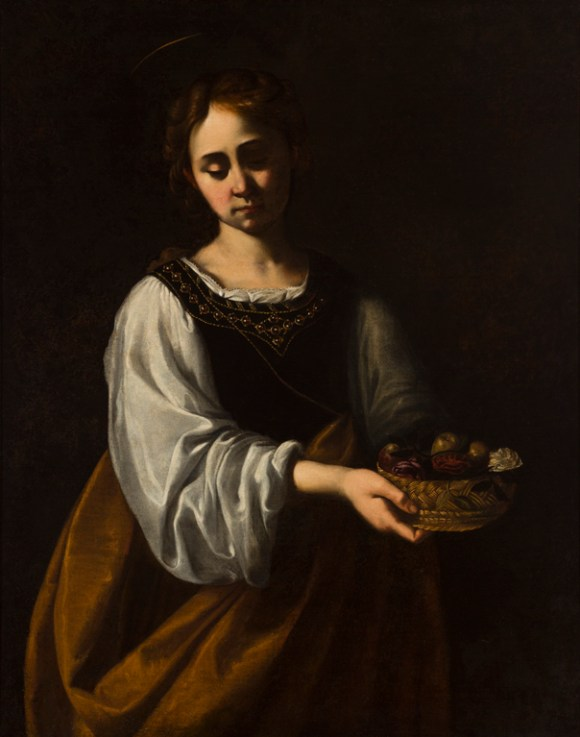 Antiveduto Gramatica (Italian, 1571–1626), St. Dorothy, late 16th–early 17th century. Oil on canvas. Milwaukee Art Museum, Gift of Dr. and Mrs. Alfred Bader M1971.23. Photo credit: John R. Glembin