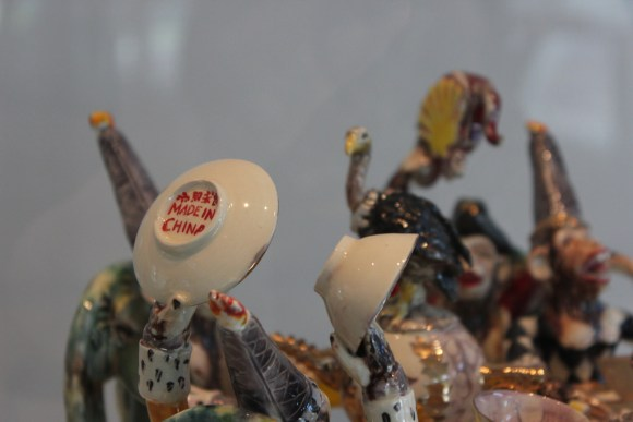 Detail of Michelle Erickson, Texas Tea Party, 2005. Chipstone Foundation, Photo by Chelsea Emelie Kelly.