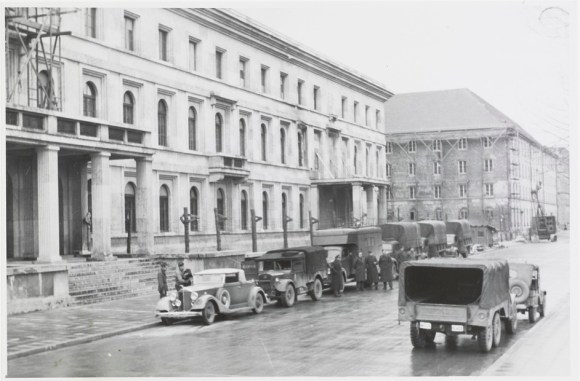 Exterior of the MCCP. Image 94 of Photographs of the Central Collecting Point, Munich, by Johannes Felbermeyer. Special Collections of the Getty Research Institute, Los Angeles. Digital image courtesy of the Getty's Open Content Program.