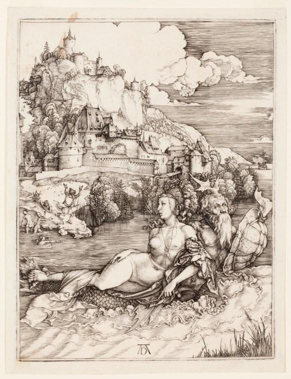 Albrecht Dürer (German, 1471–1528), The Sea Monster (Das Meerwunder), 1498. Engraving. Milwaukee Art Museum, Gertrude Nunnemacher Schuchardt Collection, presented by William H. Schuchardt M1924.173. Photo credit: John R. Glembin.