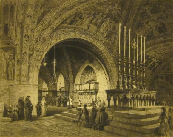 Axel Herman Haig (Swedish, 1835–1921), The Church of St. Francis, Assisi (S. Francesco, Assisi), 1903. Etching. Milwaukee Art Museum, Gift of Mr. and Mrs. Walter J. Goldsmith M1981.204. Photo credit: Tina Schinabeck.