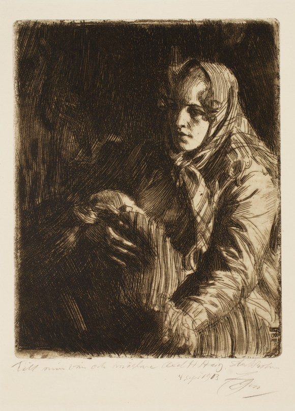 Anders Leonard Zorn (Swedish, 1860–1920), Madonna, 1900. Etching. Milwaukee Art Museum, Gertrude Nunnemacher Schuchardt Collection, presented by William H. Schuchardt M1924.136. Photo credit: John R. Glembin.