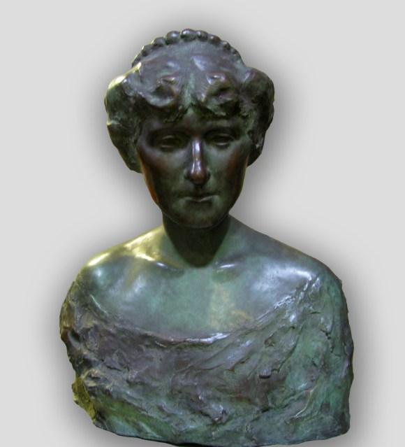 G. Salvatore Cartaino Scarpitta (American, 1887–1948), Gertrude Nunnemacher Schuchardt, 1914. Hollow cast bronze. Milwaukee Art Museum, Gift of Mrs. Emily Nunnemacher M1938.98