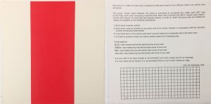 Daniel Buren (French, b. 1938), 1000 Placements (Red No. 227), from the Rubber Stamp Portfolio, 1976, published 1977. Rubber stamp print in red. Image and sheet: 8 × 8 in. (20.32 × 20.32 cm). Gift of Virginia M. and J. Thomas Maher III M1994.263.3. © Artists Rights Society (ARS), New York / ADAGP, Paris.