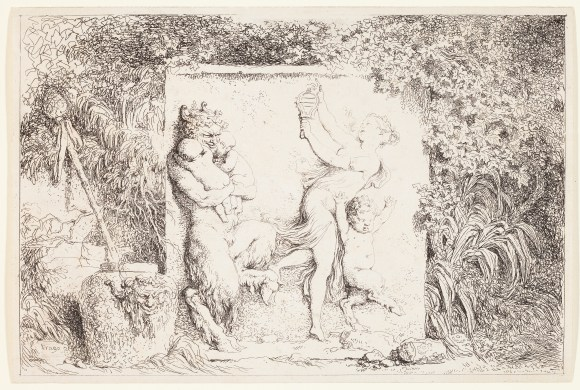 Jean-Honoré Fragonard (French, 1732–1806), The Satyr's Dance, from the series Bacchanals, 1763. Etching. Plate and sheet: 5 9/16 × 8 5/16 in. (14.13 × 21.11 cm). Milwaukee Art Museum, Gift of the DASS Fund M2010.65.4. Photo credit: John R. Glembin.