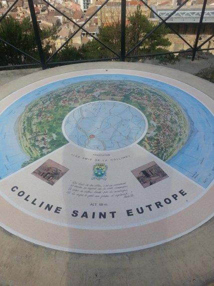 Avignon en famille - Colline St-Eutrop Orange - Table d'orientation