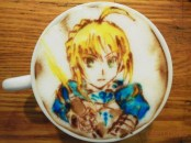 saber-fate-stay-night-Latte-Artist-Belcorno-Amazing-Anime-art-manga-online-streaming-legal-gratuit