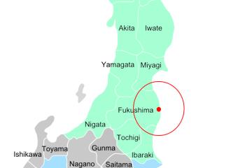 Präfekturen Radius Fukushima
