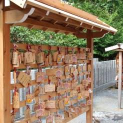 Wünsche auf Holzplaketten