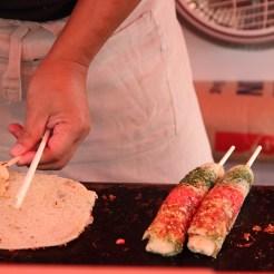 Okonomiyaki am Spieß