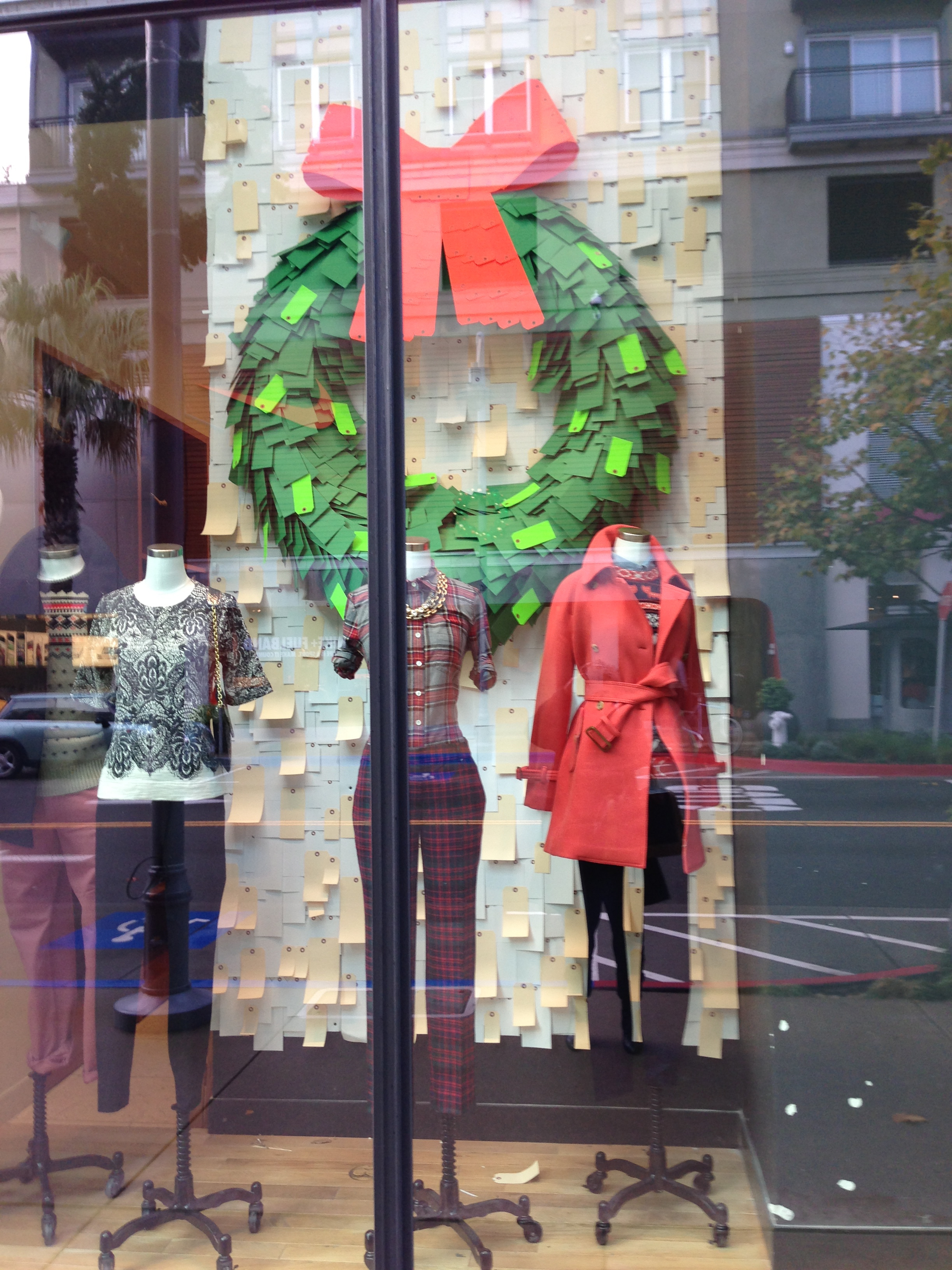 A Minimalist Holiday Window Display By JCrew