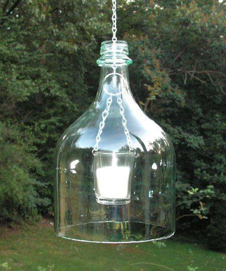 upcycle glass bottle ideas outdoor candle