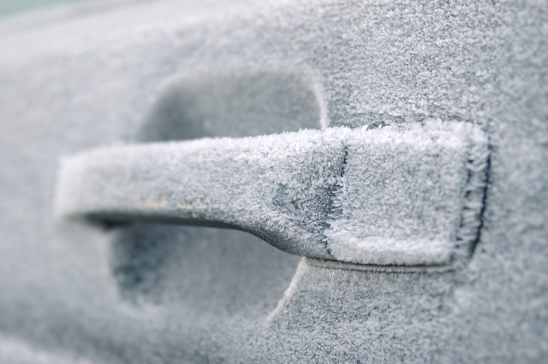 Frozen door handle Winter Car Hacks