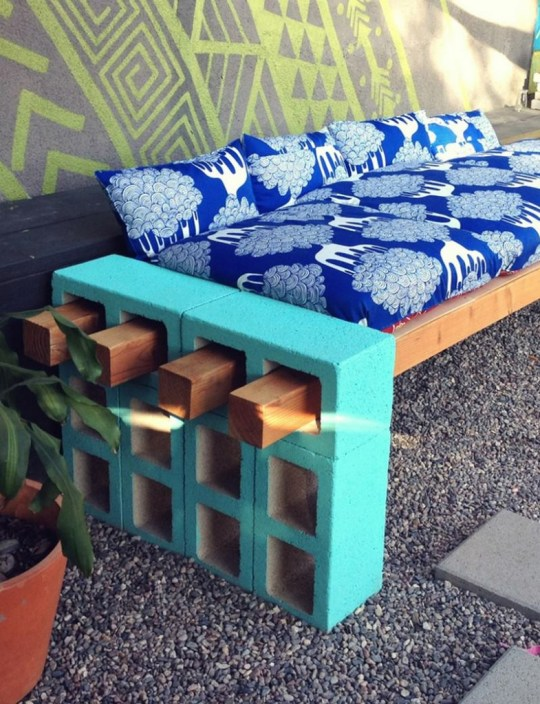 concrete blocks bench Handy Mano ManoMano Mano Mano Handymano