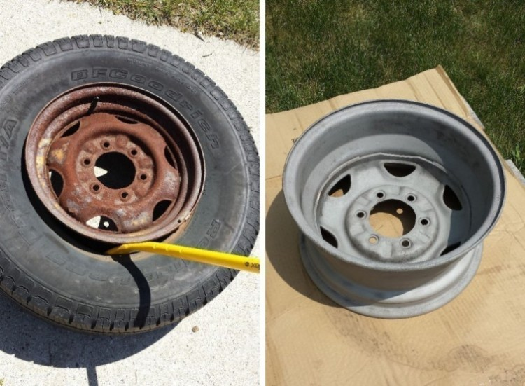 How To Make A Diy Bbq With A Tyre Rim The Handy Mano