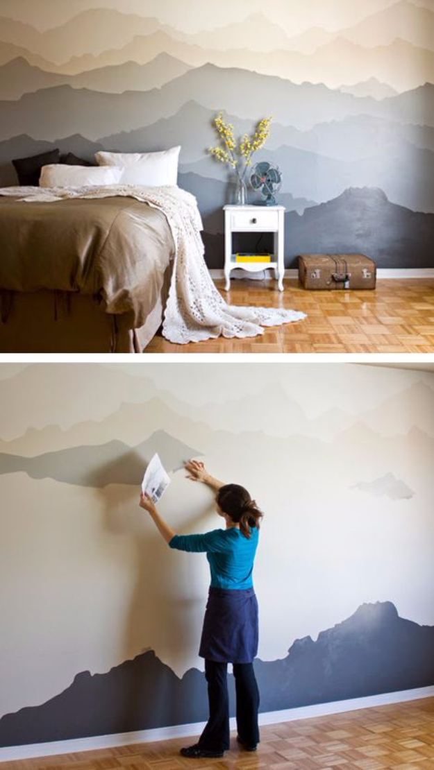 feature wall paint ideas the handy mano manomano mano mano mountain mural wall