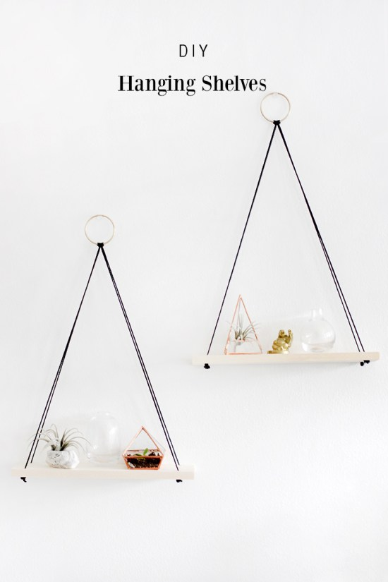 DIY shelving ideas shelves shelf the handy mano manomano hanging rope simple easy
