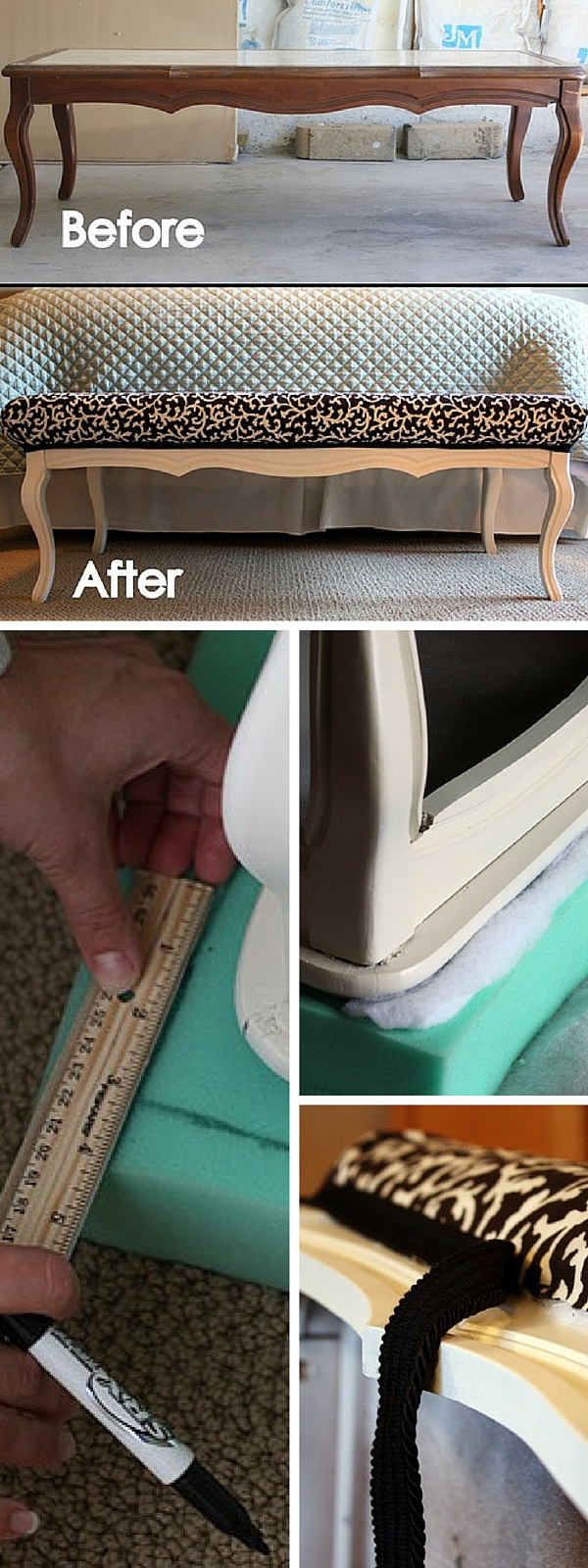 upcycled furniture upcycling reuse DIY The handy mano manomano bed