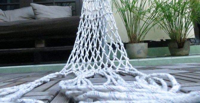 how to make a hammock The handy mano manomano diy build homemade white rope netting ties