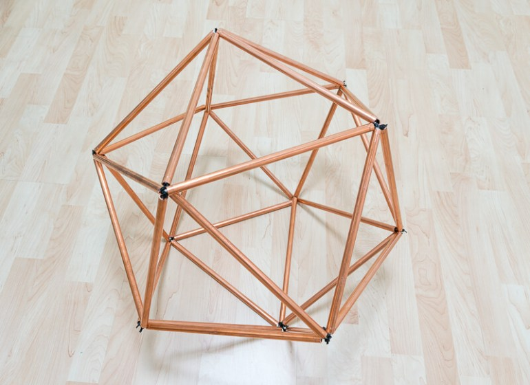 Scandi style table with copper pipes tubing Scandinavian nordic The handy mano manomano isohedron complete