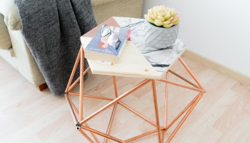 How To Make A Scandi Style Table With Copper Pipes
