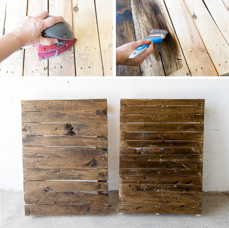 manomano mano mano the handy mano pallet bar wood pallet projects diy do it yourself staining sanding dark wood