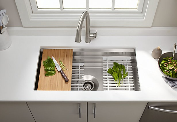 Diy Over The Sink Chopping Board Small Kitchen Ideas The Handy Mano