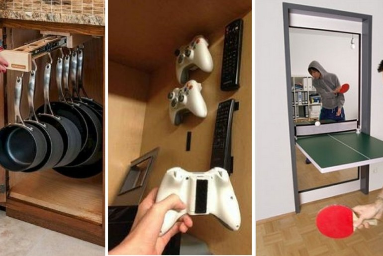 thehandymano the handy mano mano manomano small space solutions diy do it yourself pans storage cupbard controllers ping pong