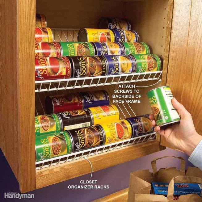 Small Kitchen Storage Solutions the handymano handy mano mano manomano storage hacks kitchen life hacks home clean tidy wine storage easy simple cans tins organised
