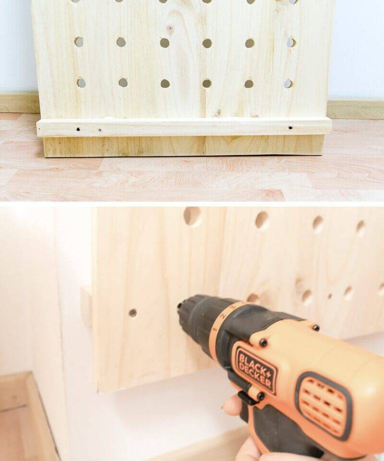 manomano mano mano the handy diy do it yourself projects build make do pegboard drilling drill bit holes