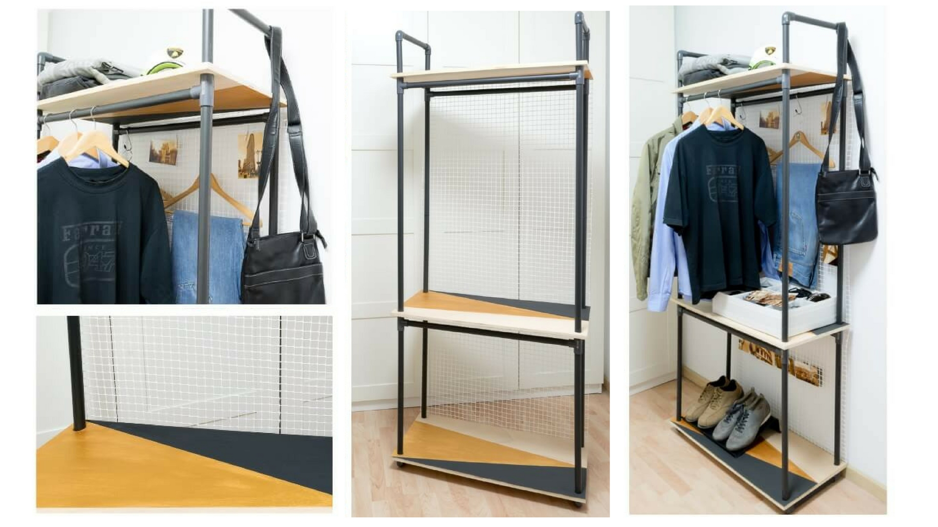 Diy Pvc Pipe Clothes Rack The Handy Mano