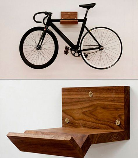 10 Interesting DIY Bike Storage Ideas bike rack indoor display stand hook cool wood wooden