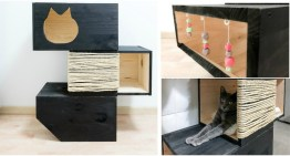 DIY Cat Bed with Scratching Post