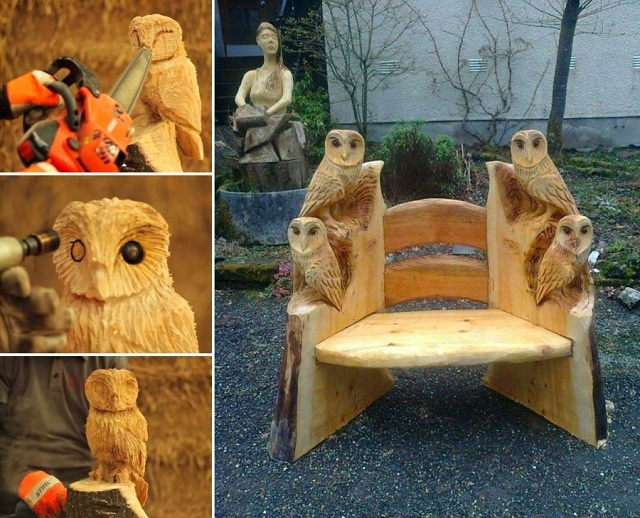 Incredible Chainsaw Carvings wood art artists manomano mano the handy mano owl owls
