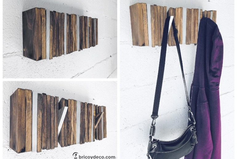 Coat Hanger from Pallets pallet diy do it yourself rack hangers