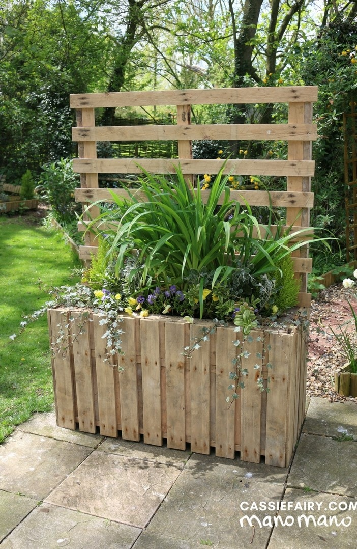 the handy mano manomano pallet planter diy project finished complete