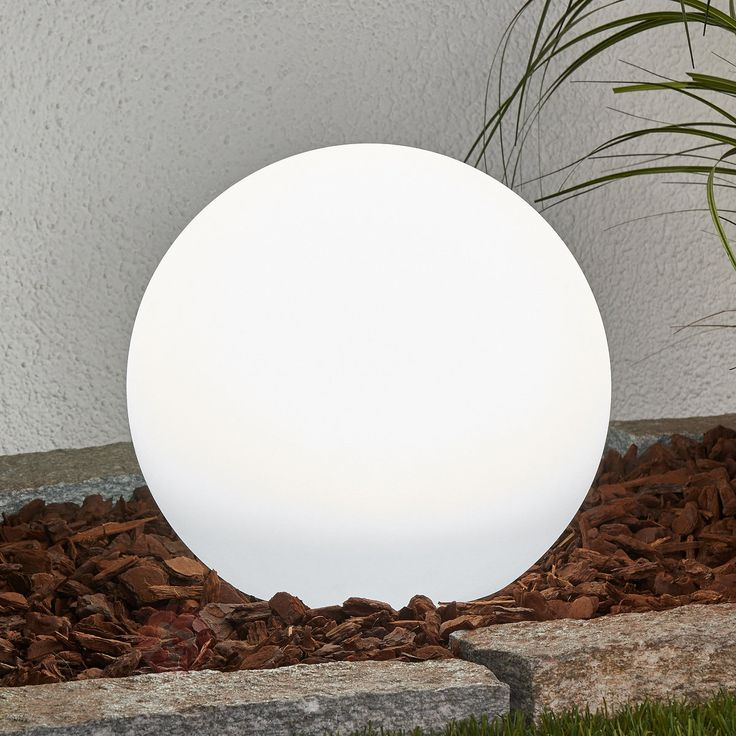 Solar sphere Lago with LED and earth spike by Lights UK for your outdoor living room