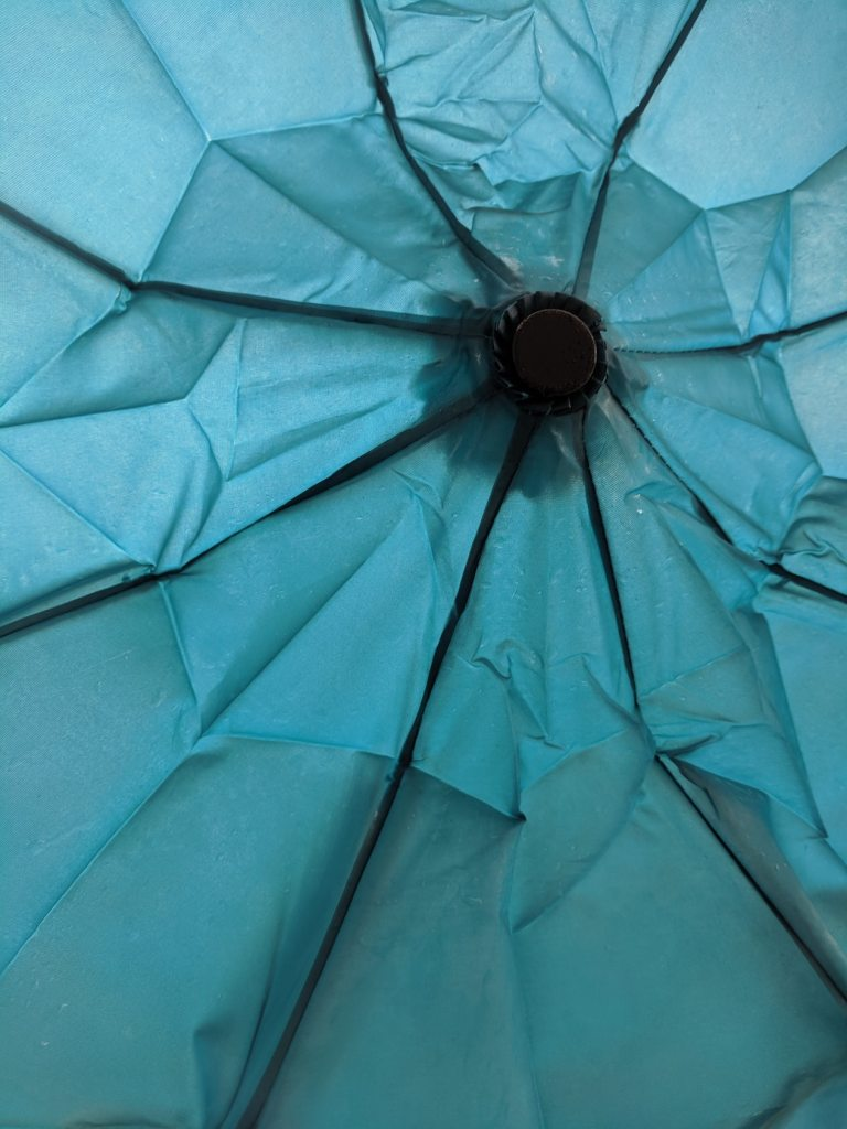 Wind can cause damage to parasols