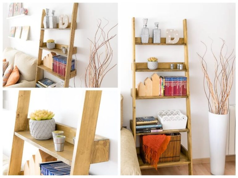 diy ladder shelf storage blanket shelf the handy mano manomano mano thehandymano do it yourself