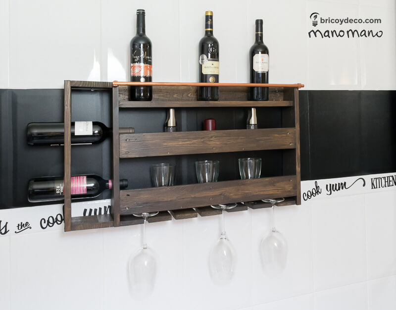 pallet wine rack stand rustic shelf the handy mano manomano pallets copper