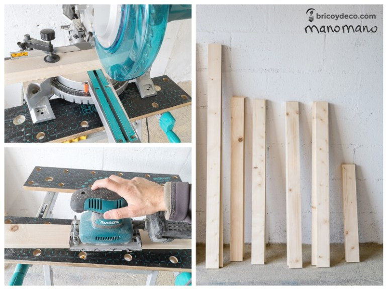 DIY Pallet Table the handy mano mano tutorial cut leg parts