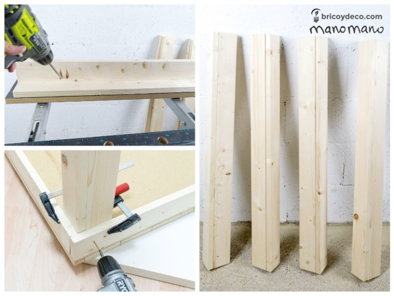 DIY Pallet Table the handy mano mano tutorial assemble legs