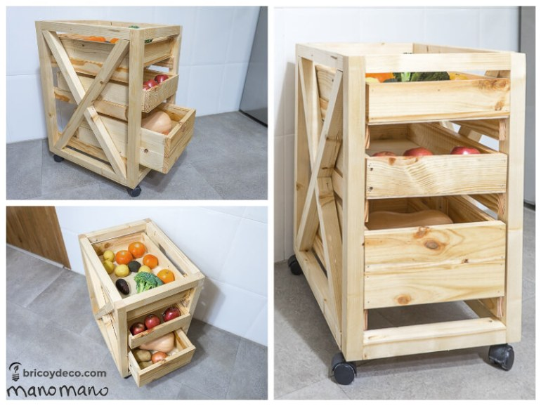 thehandymano mano mano tutorial diy how to make pallet trolley completed with fruit