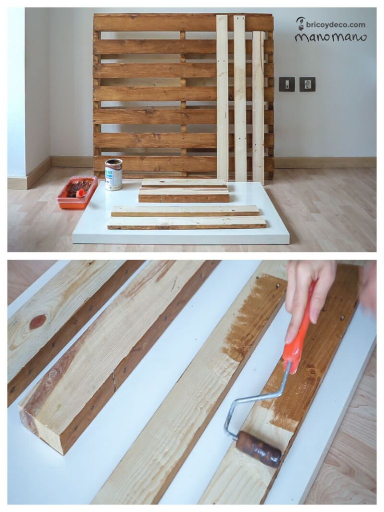 thehandymano mano DIY pallet sofa tutorial varnish