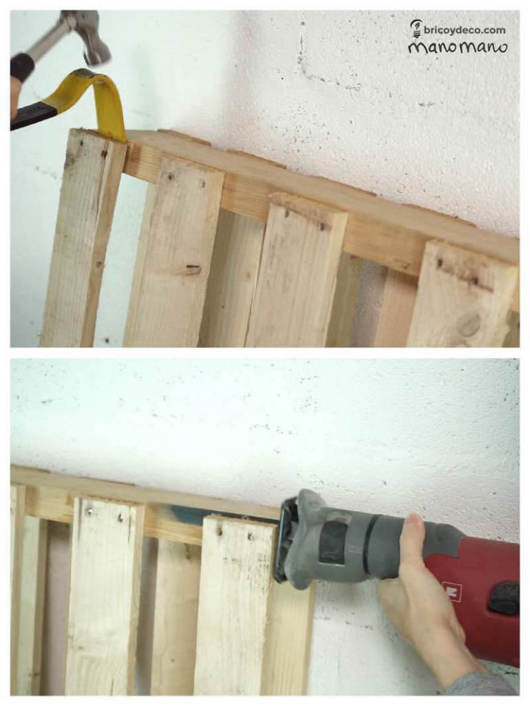 thehandymano mano Outdoor Storage Bench DIY tutorial dismantle pallets