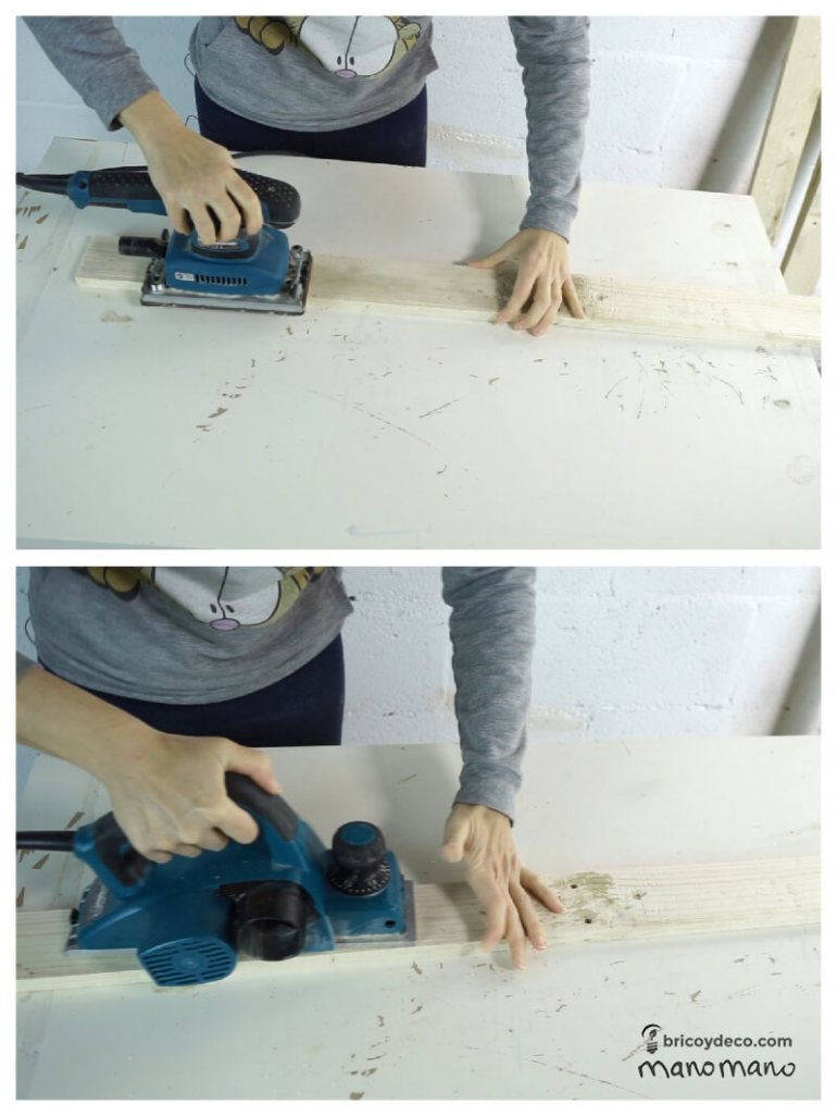 thehandymano mano Outdoor Storage Bench DIY tutorial plane boards