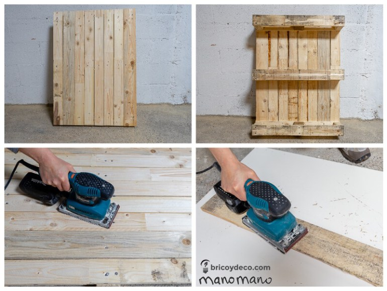 easy pallet projects thehandymano mano mano sanding