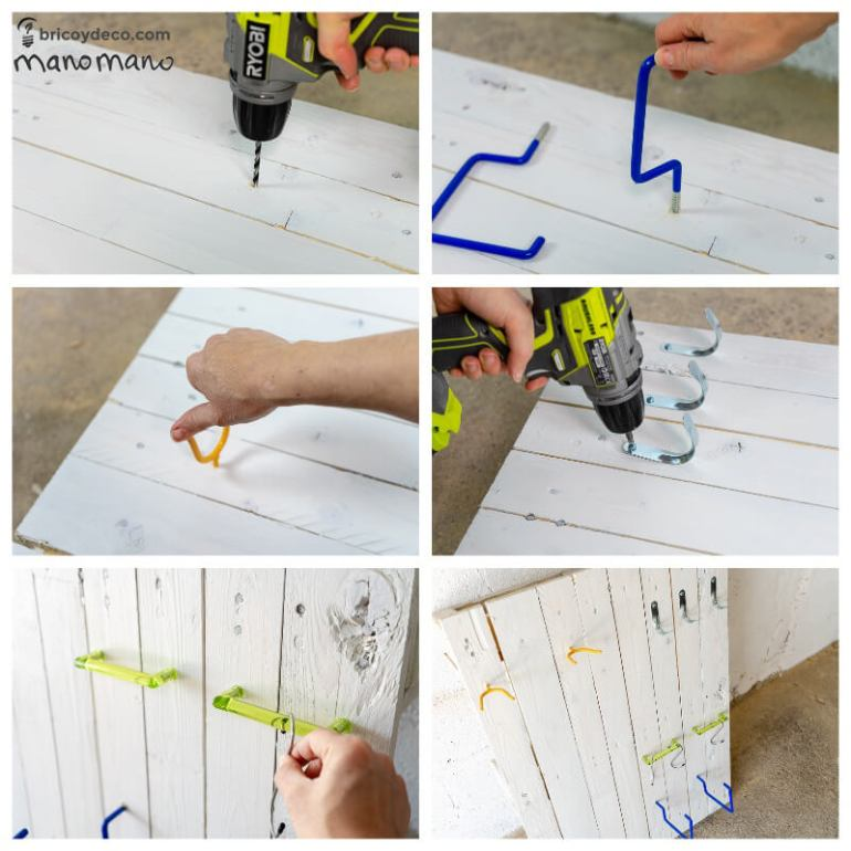 easy pallet projects thehandymano mano mano add hooks