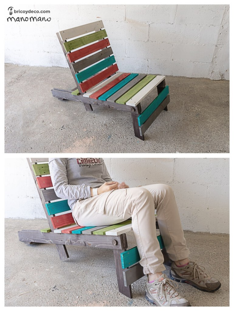 mano mano thehandymano mano uk diy DIY Pallet Chair tutorial final product